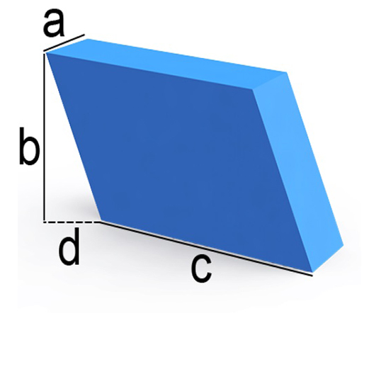 Bezug nach Maß Parallelogramm