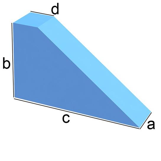 Dreieck mit Abschnitt