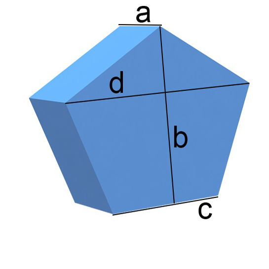 Bezug nach Maß Fünfeck