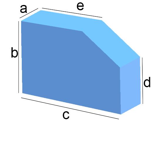 Rechteck mit Schräg-Eckenabschnitt