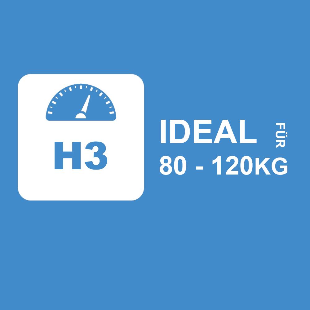 2HOH3 - Ideal für 80 bis 120Kg