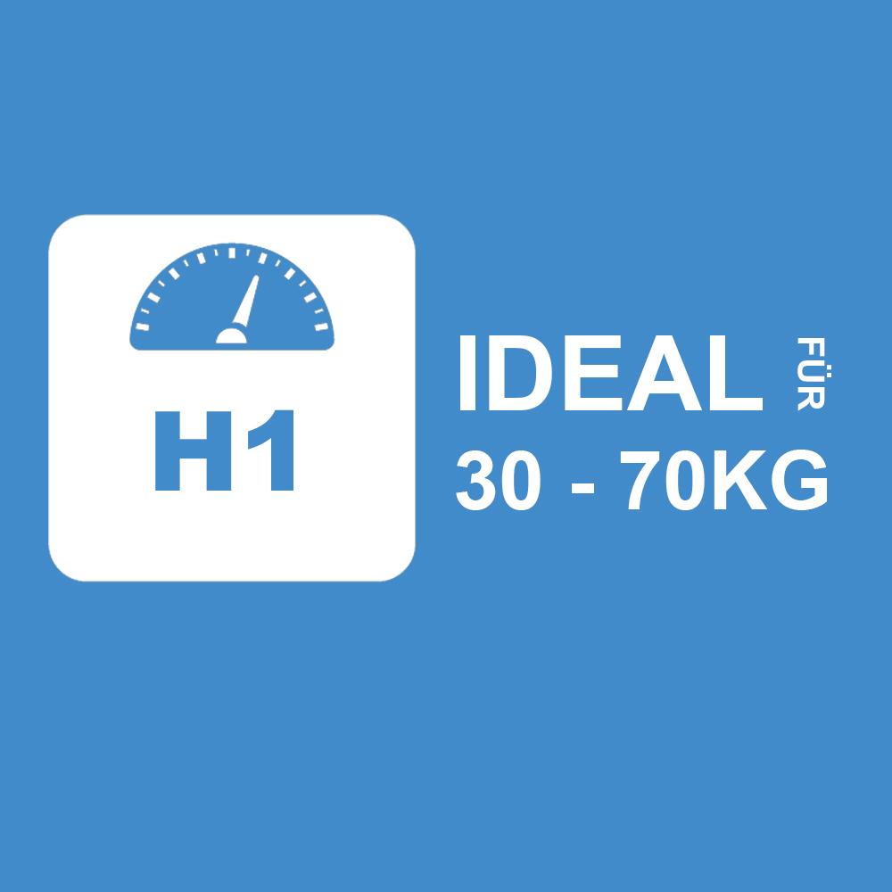 2HOH1 - Ideal für 30 bis 70Kg