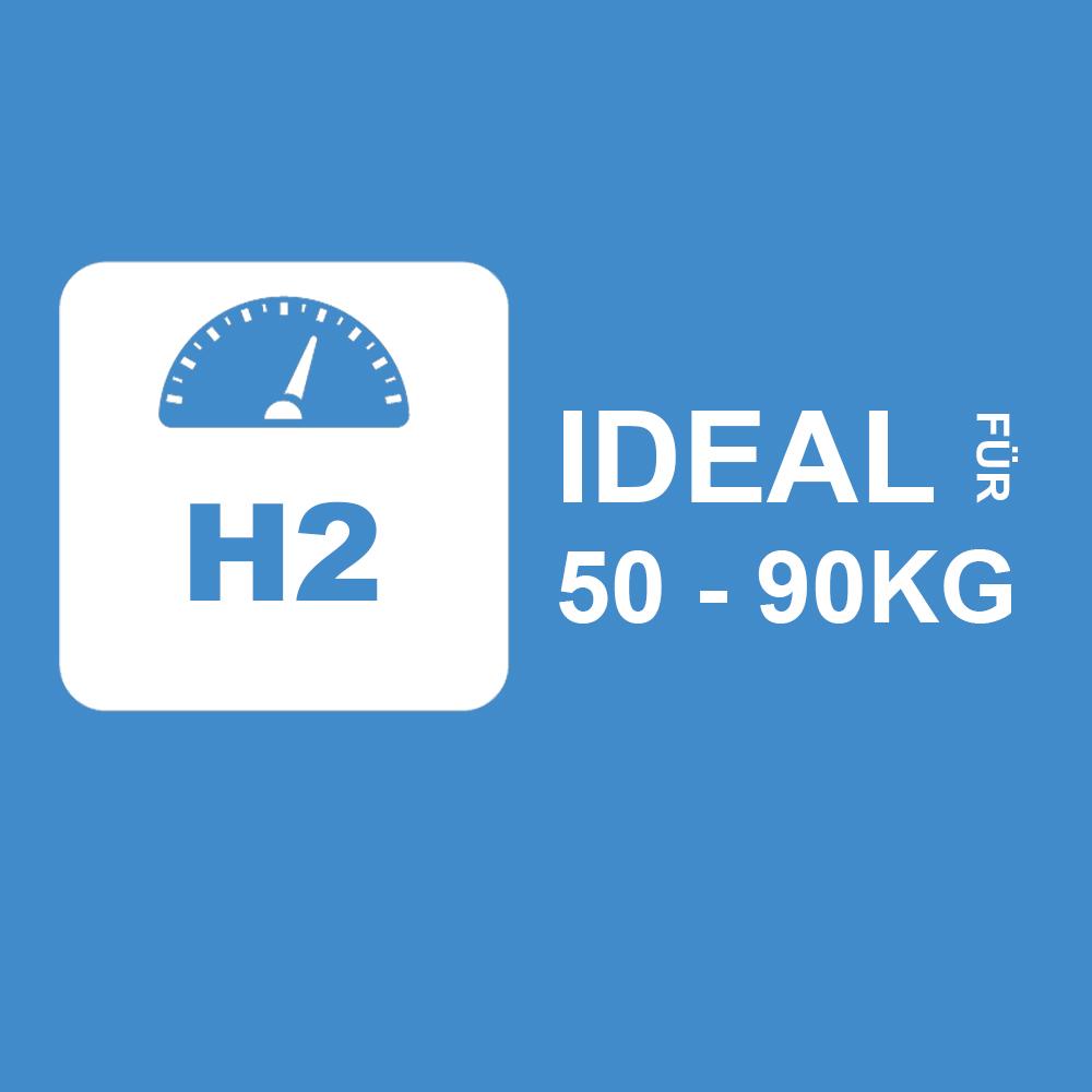 2kH2 - Ideal für 50 bis 90Kg