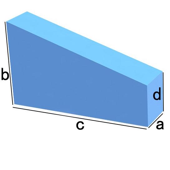 Bezug nach Maß Rechteck mit Abschnitt